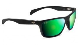 Maui Jim Makoa Sunglasses - Matte Black / MauiGreen Polarised