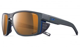 Julbo Shield Sunglasses - Dark Grey & Blue / Reactiv Cameleon Polarised Photochromic
