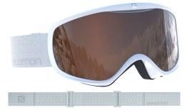 Salomon Sense Ski Goggles - White / Universal Tonic Orange