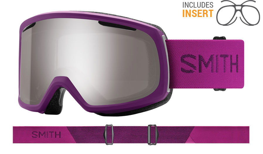 Smith Optics Riot Prescription Ski Goggles - Monarch / ChromaPop Sun Platinum Mirror + Yellow