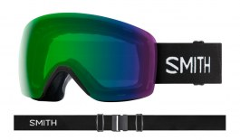 Smith Skyline Ski Goggles - Black / ChromaPop Everyday Green Mirror