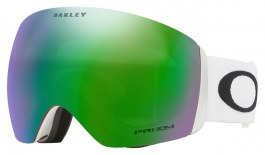 Oakley Flight Deck Ski Goggles - Matte White / Prizm Jade Iridium