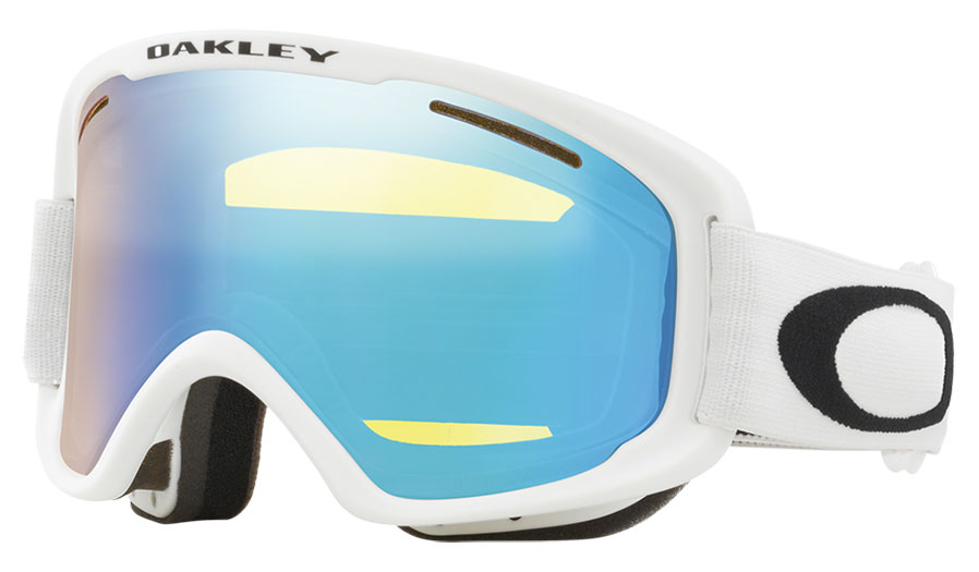 Oakley O Frame 2.0 Pro XM Ski Goggles - Matte White / HI Yellow Iridium + Dark Grey