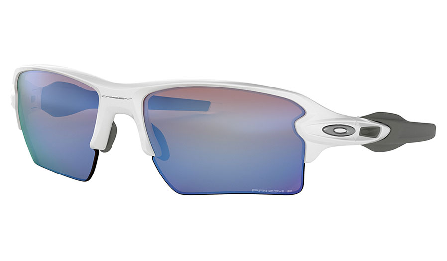 Oakley Flak 2.0 XL Sunglasses - Polished White / Prizm Deep Water Polarised