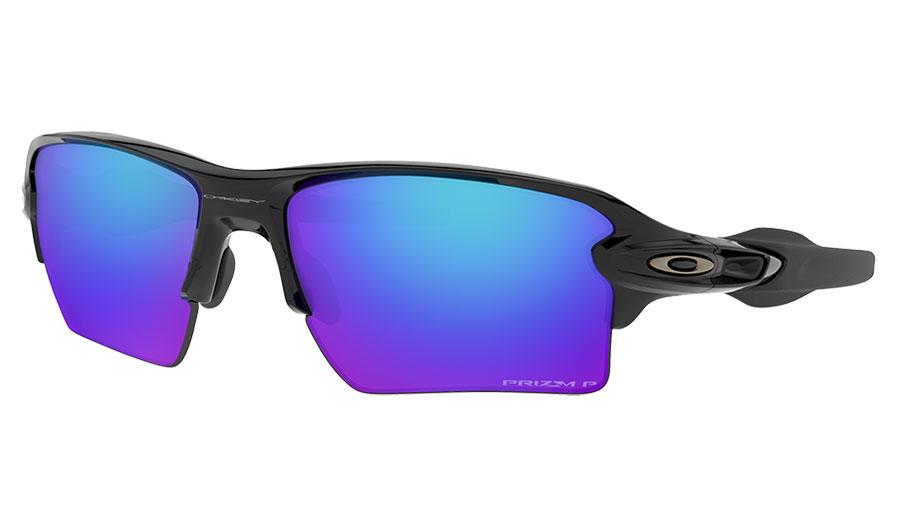 Oakley Flak 2.0 XL Sunglasses - Polished Black / Prizm Sapphire Polarised