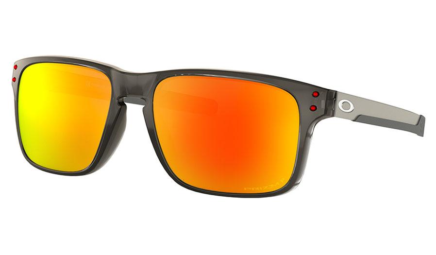 Oakley Holbrook Mix Sunglasses - Grey Smoke / Prizm Ruby Polarised
