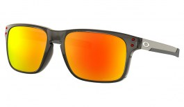Oakley Holbrook Mix Sunglasses - Grey Smoke / Prizm Ruby Polarised