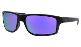 Oakley Gibston Sunglasses - Matte Black / Prizm Violet Polarised
