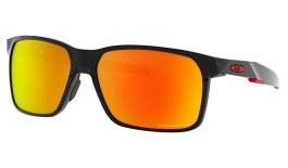Oakley Portal X Sunglasses - Polished Black / Prizm Ruby Polarised