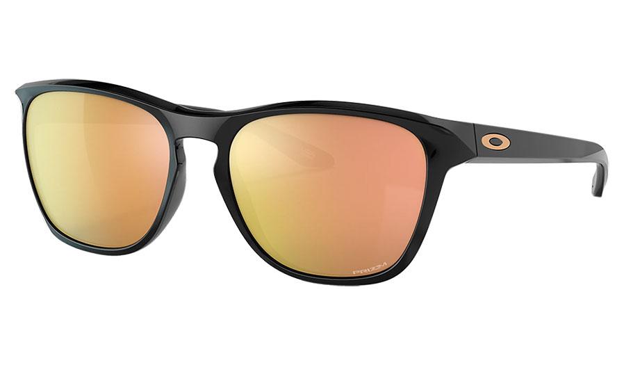 Oakley Manorburn Sunglasses - Polished Black / Prizm Rose Gold