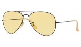 Ray-Ban RB3025 Aviator Sunglasses - Black / Evolve Yellow Photochromic