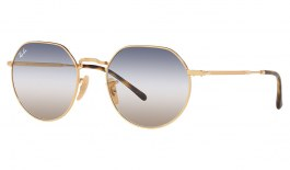 Ray-Ban RB3565 Jack Sunglasses - Gold / Blue Brown Gradient