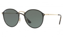 Ray-Ban RB3574N Blaze Round Sunglasses - Gold / Green