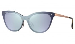 Ray-Ban RB3580N Blaze Cat Eye Sunglasses - Bronze Copper / Violet Mirror