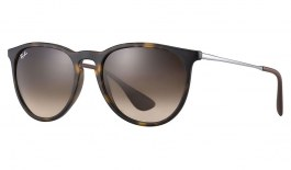 Ray-Ban RB4171 Erika Sunglasses - Brown Rubber / Brown Gradient