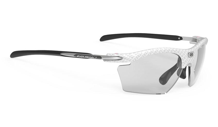 Rudy Project Rydon Slim Prescription Sunglasses - Clip-On Insert - White Carbonium / ImpactX 2 Photochromic Black