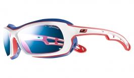 Julbo Wave Sunglasses - White, Blue & Red / Polarized 3+ Blue
