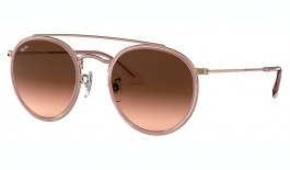 Ray-Ban RB3647N Round Double Bridge Sunglasses - Pink / Pink Brown Gradient