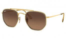 Ray-Ban RB3648M Marshal II Sunglasses - Gold / Brown Gradient