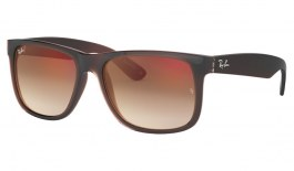 Ray-Ban RB4165 Justin Sunglasses - Brown / Brown Gradient Red Mirror
