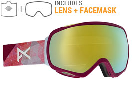 Anon Tempest MFI Ski Goggles - Geo / Sonar Bronze