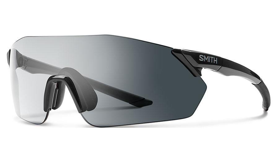 Smith Reverb Sunglasses - Black / Clear to Grey Photochromic + ChromaPop Contrast Rose