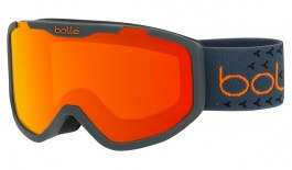 Bolle Rocket Plus Ski Goggles - Matte Dark Grey & Orange / Sunrise