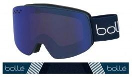 Bolle Nevada Ski Goggles - Matte Blue & White Diagonal / Bronze Blue