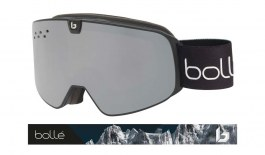 Bolle Nevada Neo Ski Goggles - Matte Black Mountain / Black Chrome + Light Vermillon Blue