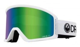 Dragon DX3 OTG Ski Goggles - White / Lumalens Green Ion