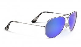 Maui Jim Mavericks Sunglasses - Silver / Blue Hawaii Polarised