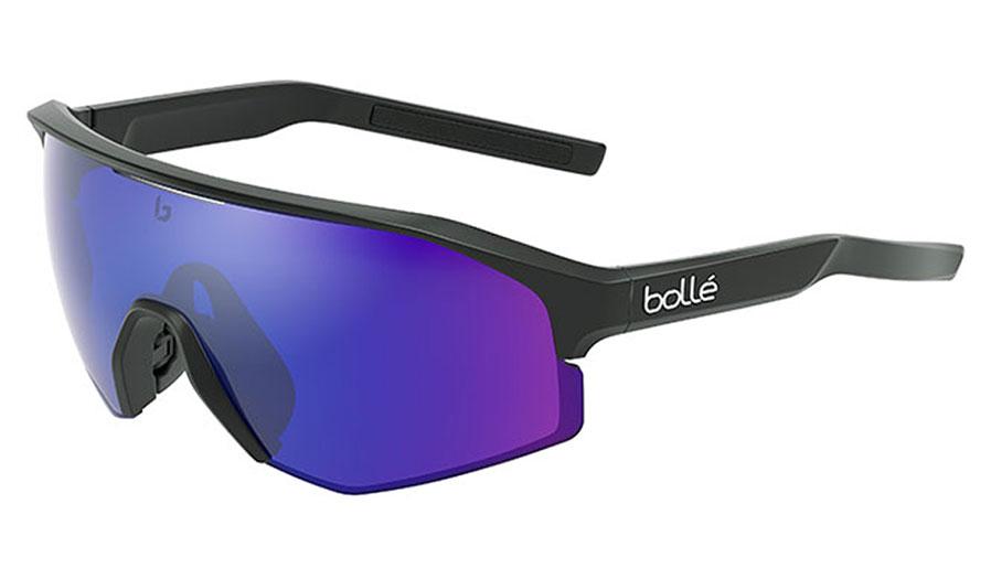 Bolle Lightshifter XL Sunglasses - Matte Black / Brown Blue