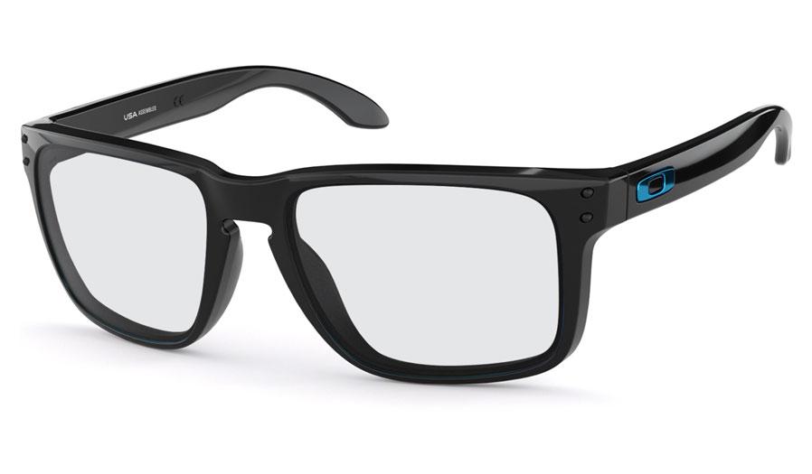 55d1599f50 Oakley Holbrook XL Prescription Sunglasses - Polished Black (Blue ...