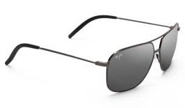Maui Jim Kami Sunglasses - Gunmetal / Dual Mirror Silver to Black Polarised
