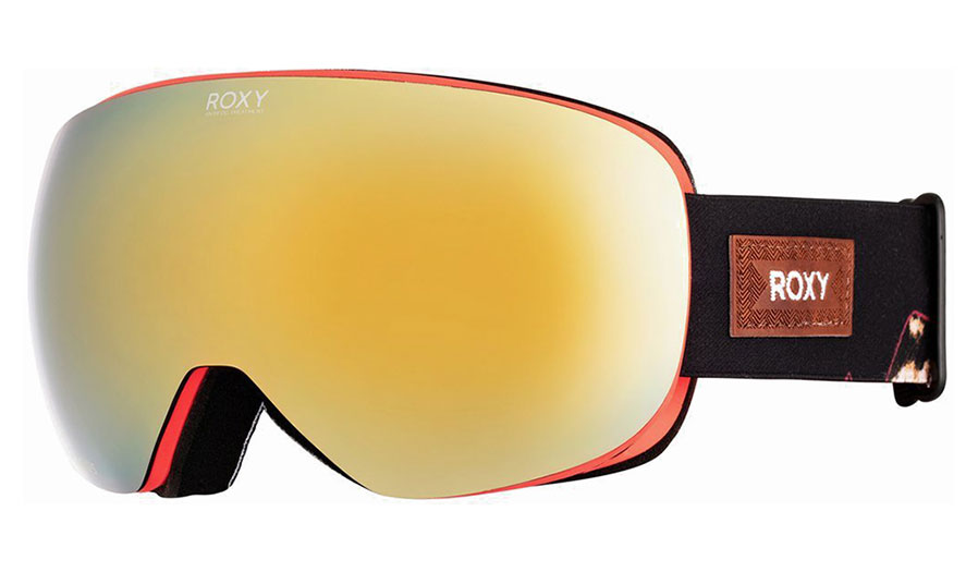 Roxy Popscreen Ski Goggles - Torah Bright's True Black Magnolia / Sonar Ml Gold