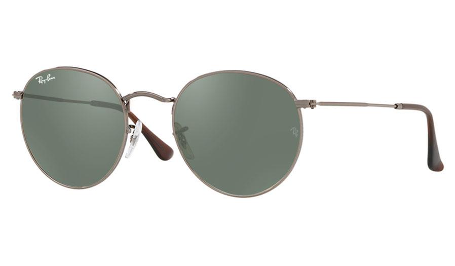 Ray-Ban RB3447N Round Metal Flat Prescription Sunglasses - Gunmetal