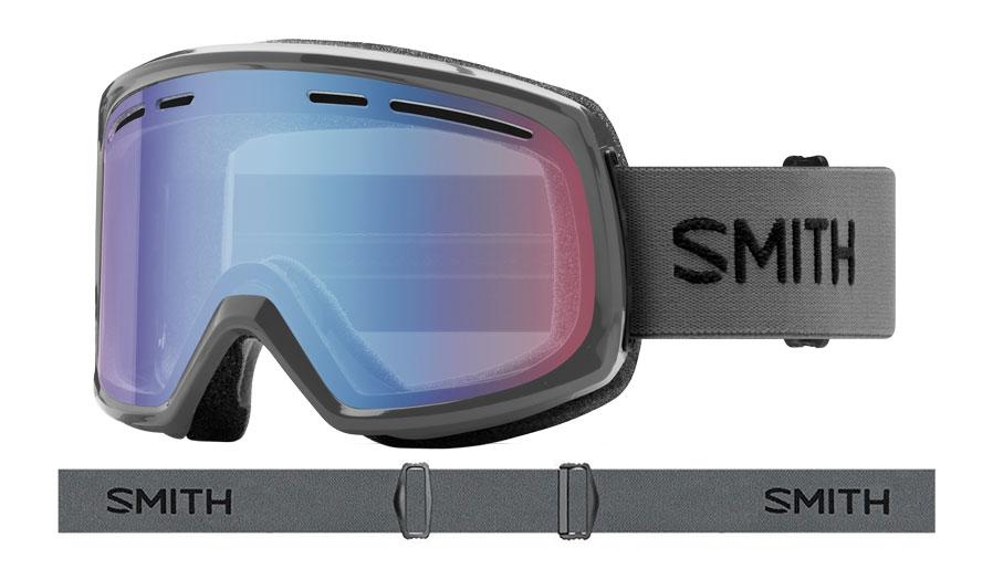 Smith Range Prescription Ski Goggles - Charcoal / Blue Sensor Mirror