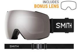 Smith Optics I/O MAG Prescription Ski Goggles - Black / ChromaPop Sun Platinum Mirror + ChromaPop Storm Rose Flash