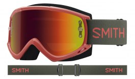 Smith Fuel V.1 MTB Prescription Goggles - Sage & Red Rock / Red Mirror + Clear
