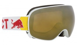 Red Bull Magnetron Ski Goggles - Matte White / Gold Snow + Cloudy Snow