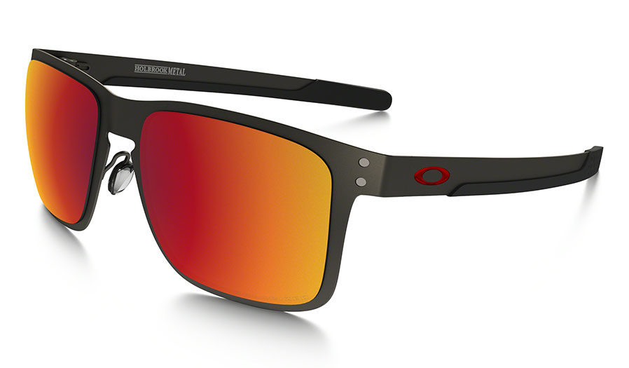 Oakley Metal Frame Glasses : Oakley Holbrook Metal Sunglasses - Matte Gunmetal / Torch ...