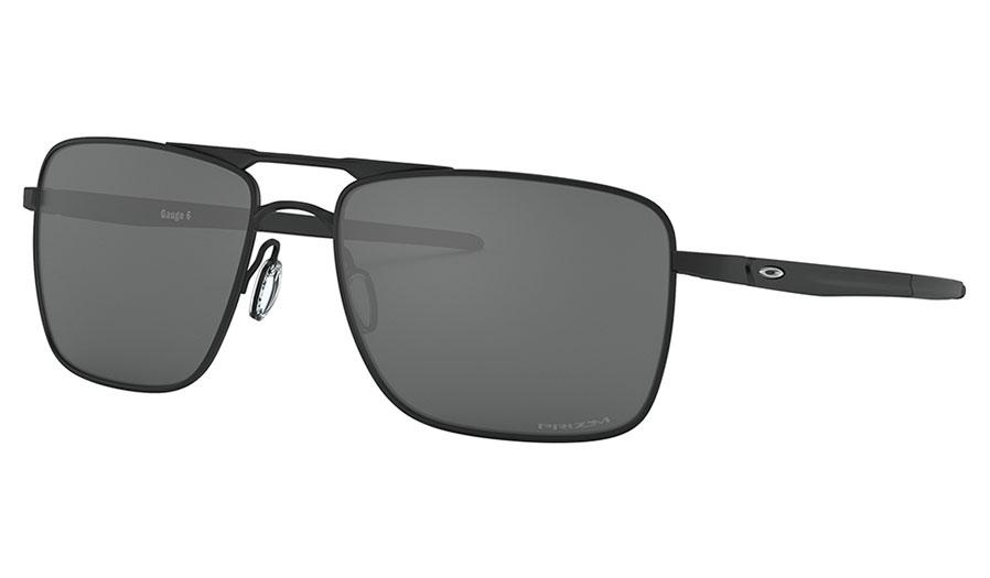Oakley Gauge 6 Titanium Sunglasses - Powder Coal / Prizm Black