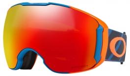 Oakley Airbrake XL Ski Goggles - Hazard Bar Iron Blue / Prizm Torch Iridium