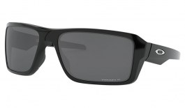 Oakley Double Edge Sunglasses - Polished Black / Prizm Black Polarised