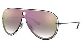 Ray-Ban RB3605N Sunglasses - Black / Blue Gradient Red Mirror