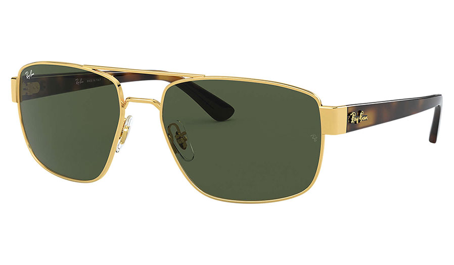 Ray-Ban RB3663 Sunglasses - Gold / Green