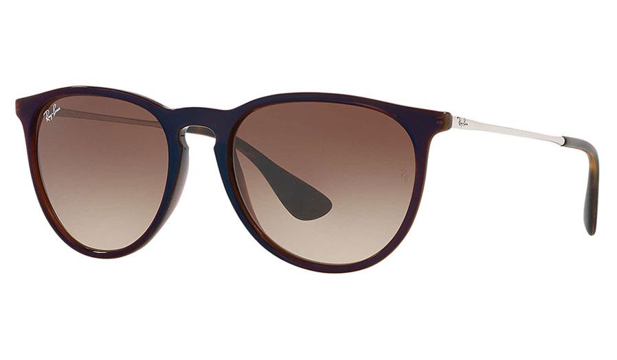 4e03ebc1f32 Ray-Ban RB4171 Erika Sunglasses - Brown   Reflective Blue   Brown Gradient  - RxSport