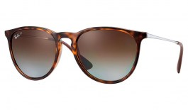 Ray-Ban RB4171 Erika Sunglasses - Tortoise / Brown Gradient Polarised