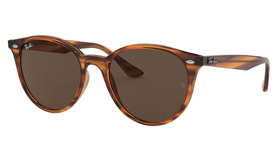 Ray-Ban RB4305 Sunglasses - Striped Red Havana / Brown