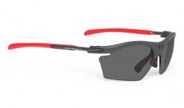Rudy Project Rydon Slim Prescription Sunglasses - ImpactRX Directly Glazed - Matte Graphite & Red
